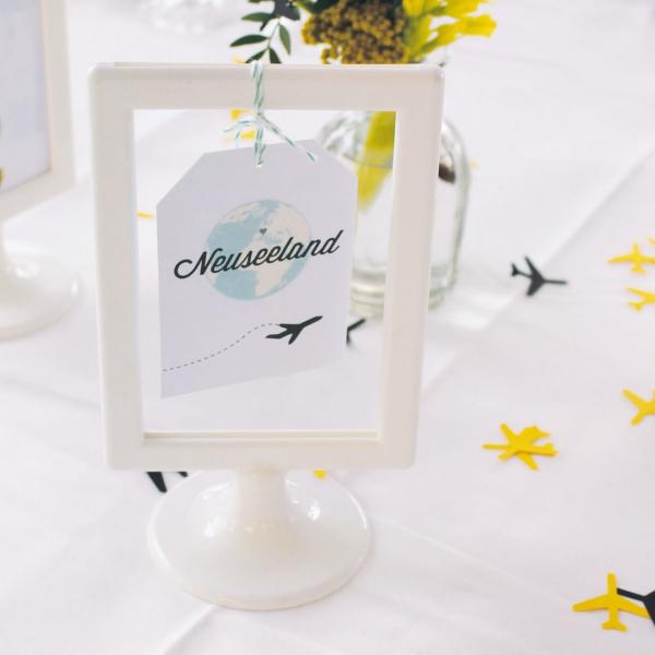 Hochzeitspapeterie – Reisefieber