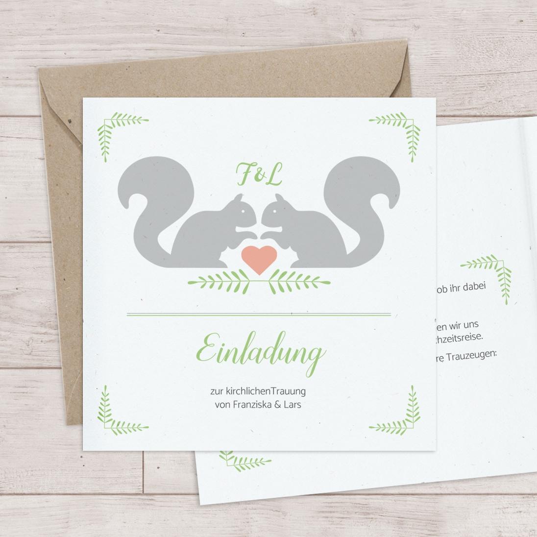 Hochzeitspapeterie – Eichhorn