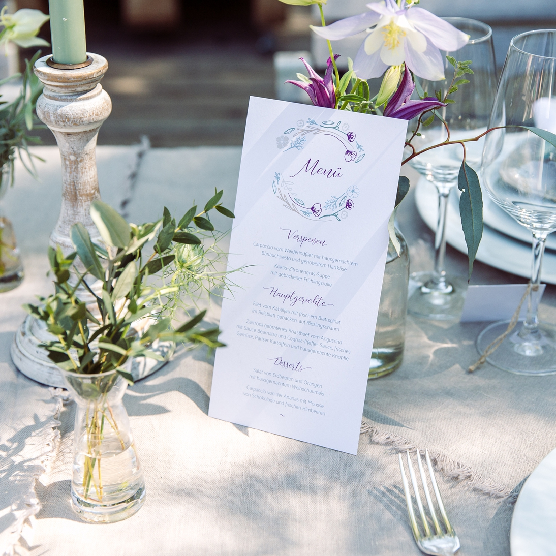 Elegant-rustikale Hochzeitspapeterie – Styled Shooting